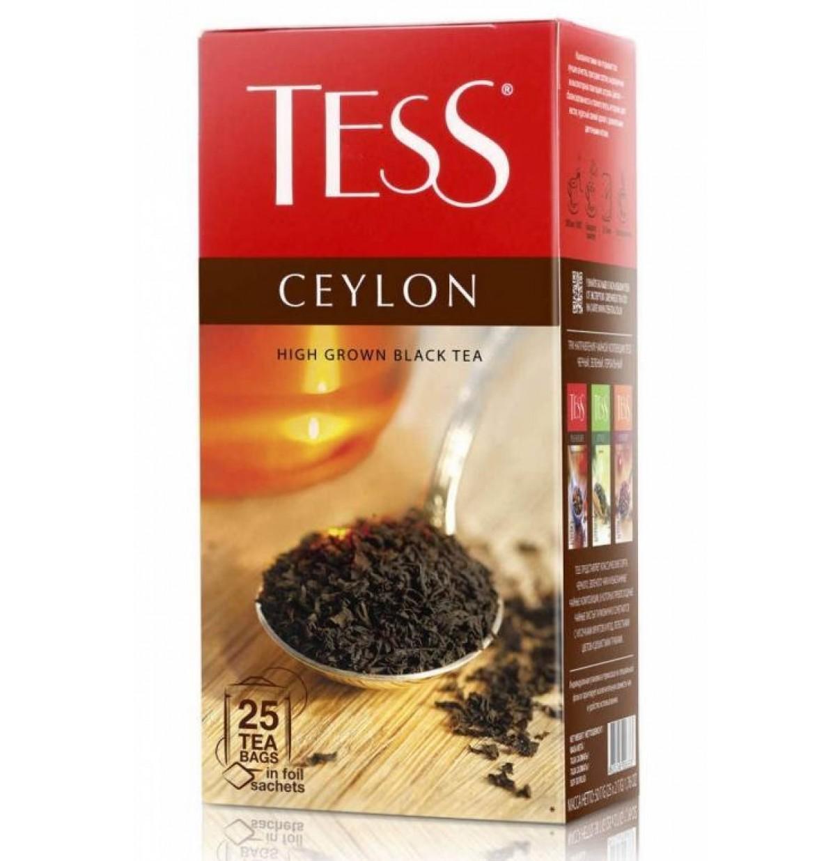 Чай Тесс Ceylon черный 25 пак высокогорный