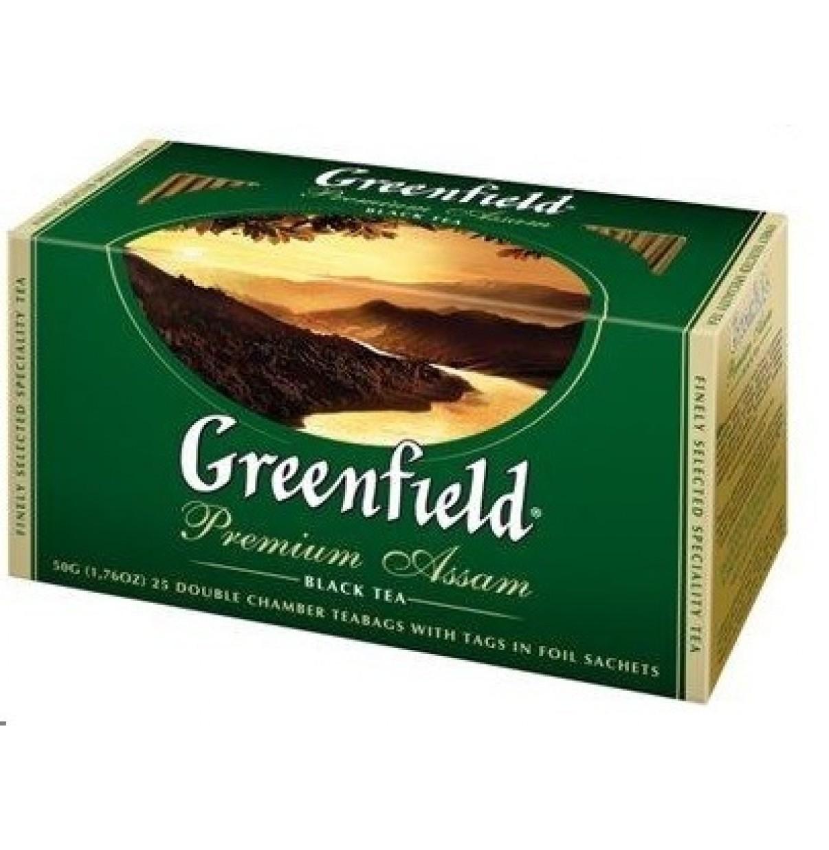 Чай Гринфилд пак 25 шт Премиум Ассам